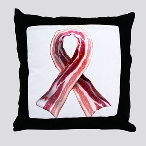 Bacon Ribbon Throw Pillow