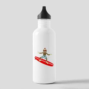 Sock Monkey Surfer Stainless Water Bottle 1.0L