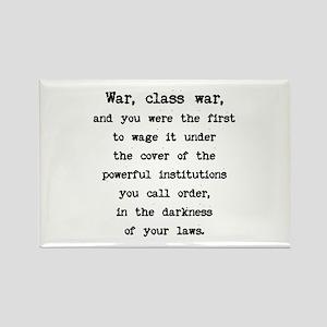 Class War / Plain Words Rectangle Magnet