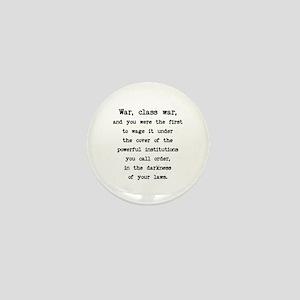Class War / Plain Words Mini Button
