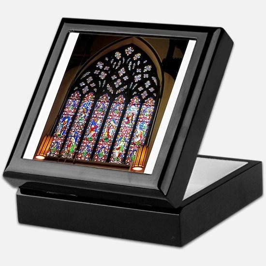 West Stained Glass Window Keepsake Box