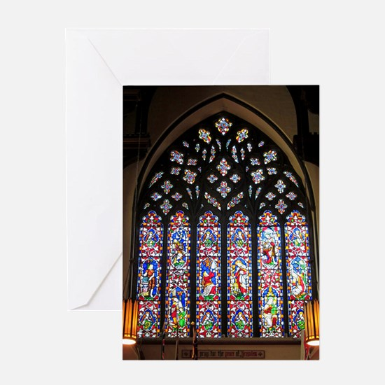 West Stained Glass Window Greeting Card