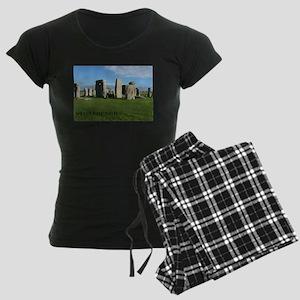 Stonehenge 2 Women's Dark Pajamas
