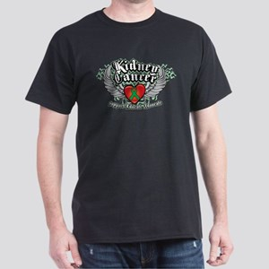 Kidney Cancer Wings Dark T-Shirt