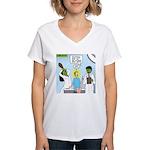 Zombie Doctor Women's V-Neck T-Shirt
