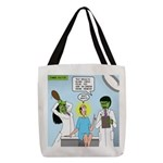 Zombie Doctor Polyester Tote Bag