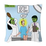 Zombie Doctor Woven Throw Pillow