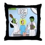 Zombie Doctor Throw Pillow