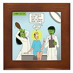 Zombie Doctor Framed Tile