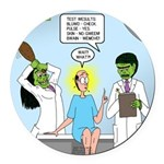 Zombie Doctor Round Car Magnet