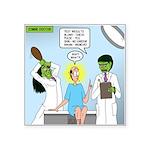 Zombie Doctor Square Sticker 3