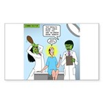 Zombie Doctor Sticker (Rectangle)