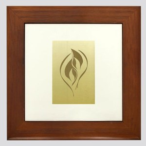 Twin Flame Framed Tile