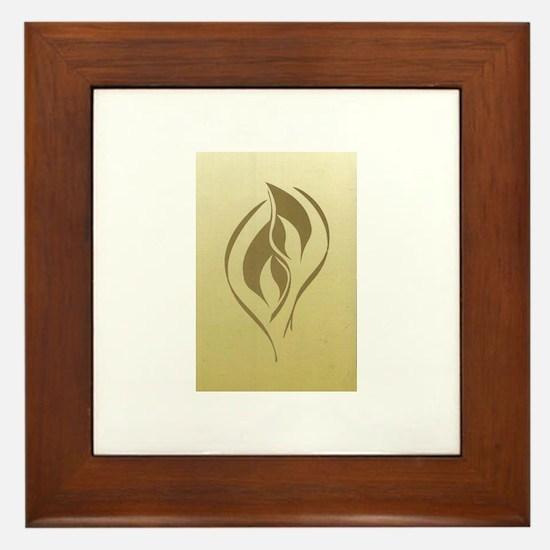 Twin Flame Framed Tile