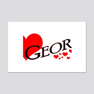 I Heart George Mini Poster Print