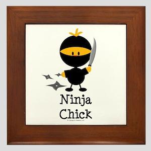 Ninja Chick Framed Tile