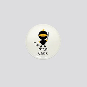 Ninja Chick Mini Button
