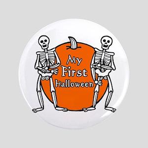 "My First Halloween 3.5"" Button"