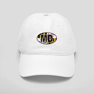 Maryland MD Oval (w/flag) Cap