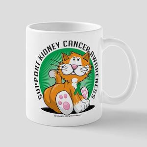 Kidney Cancer Cat Mug