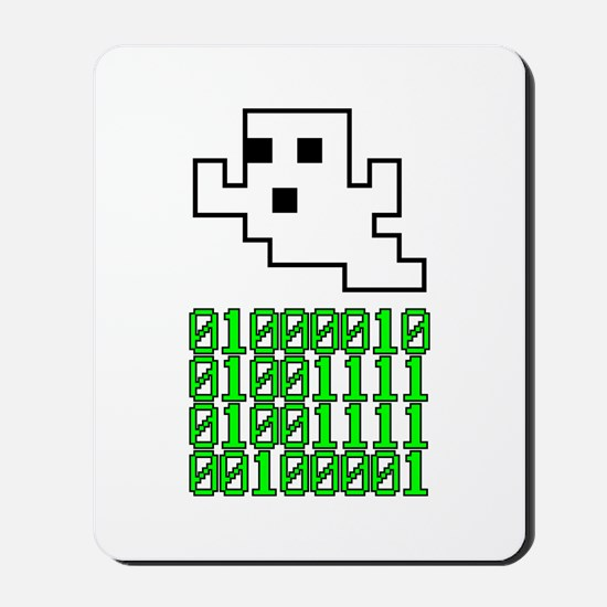 Binary Pixel Ghost Mousepad