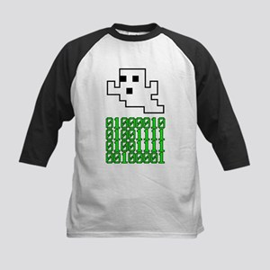 Binary Pixel Ghost Kids Baseball Jersey