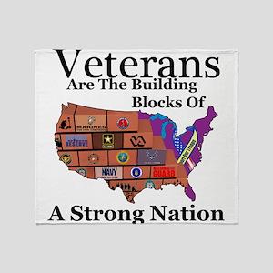 Building Block Nation Throw Blanket
