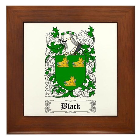 Black [Scottish] Framed Tile