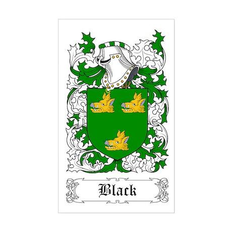 Black [Scottish] Sticker (Rectangle)