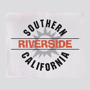 Riverside California Throw Blanket