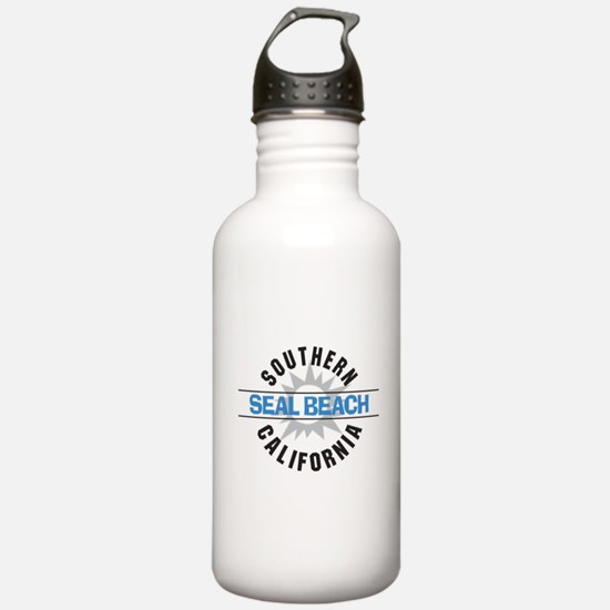 Seal Beach California Water Bottle