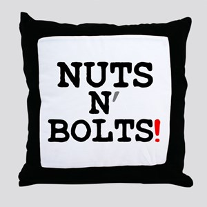NUTS N BOLTS! Throw Pillow