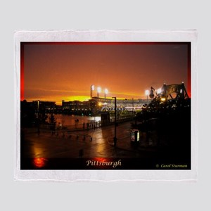 Pittsburgh Sunset Throw Blanket