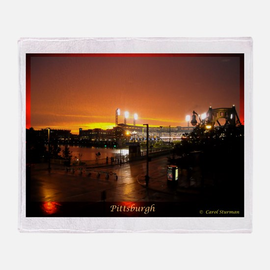 Pittsburgh Sunset Throw Blanket