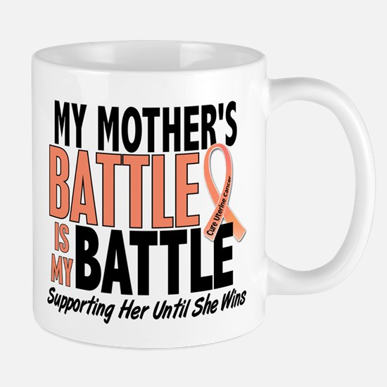 My Battle Too Uterine Cancer Large Mugs