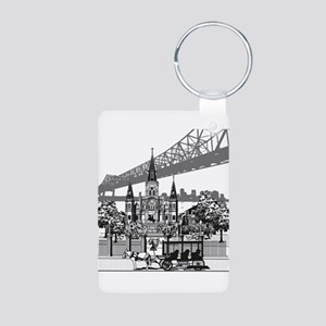 New Orleans Aluminum Photo Keychain