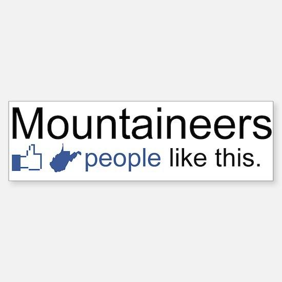 Facebook (Mountaineers) Sticker (Bumper)
