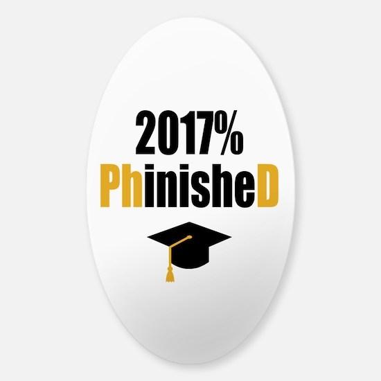 2017 PhD Sticker (Oval)