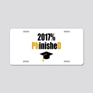 2017 PhD Aluminum License Plate