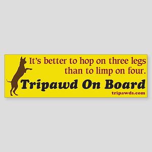 Tripawd On Board Sticker (Bumper)