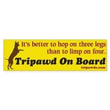 Tripawd On Board Sticker (Bumper)