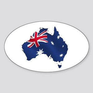 Australian Map Sticker (Oval)
