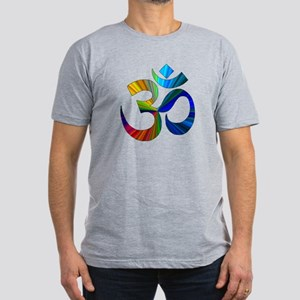 Om 2 Men's Fitted T-Shirt (dark)