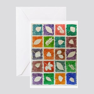 Leaves Impression Greeting Cards (1)