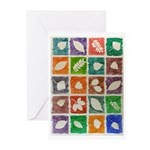 Leaves Impression Greeting Cards (10)