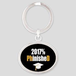 2017 PhD Oval Keychain