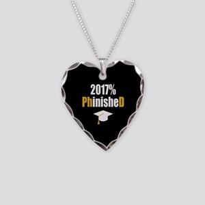 2017 PhD Necklace Heart Charm