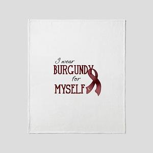 Wear Burgundy - Myself Throw Blanket