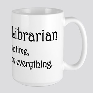 I am the Librarian Large Mug