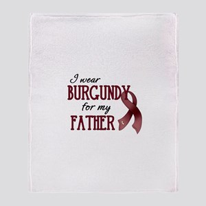 Wear Burgundy - Father Throw Blanket